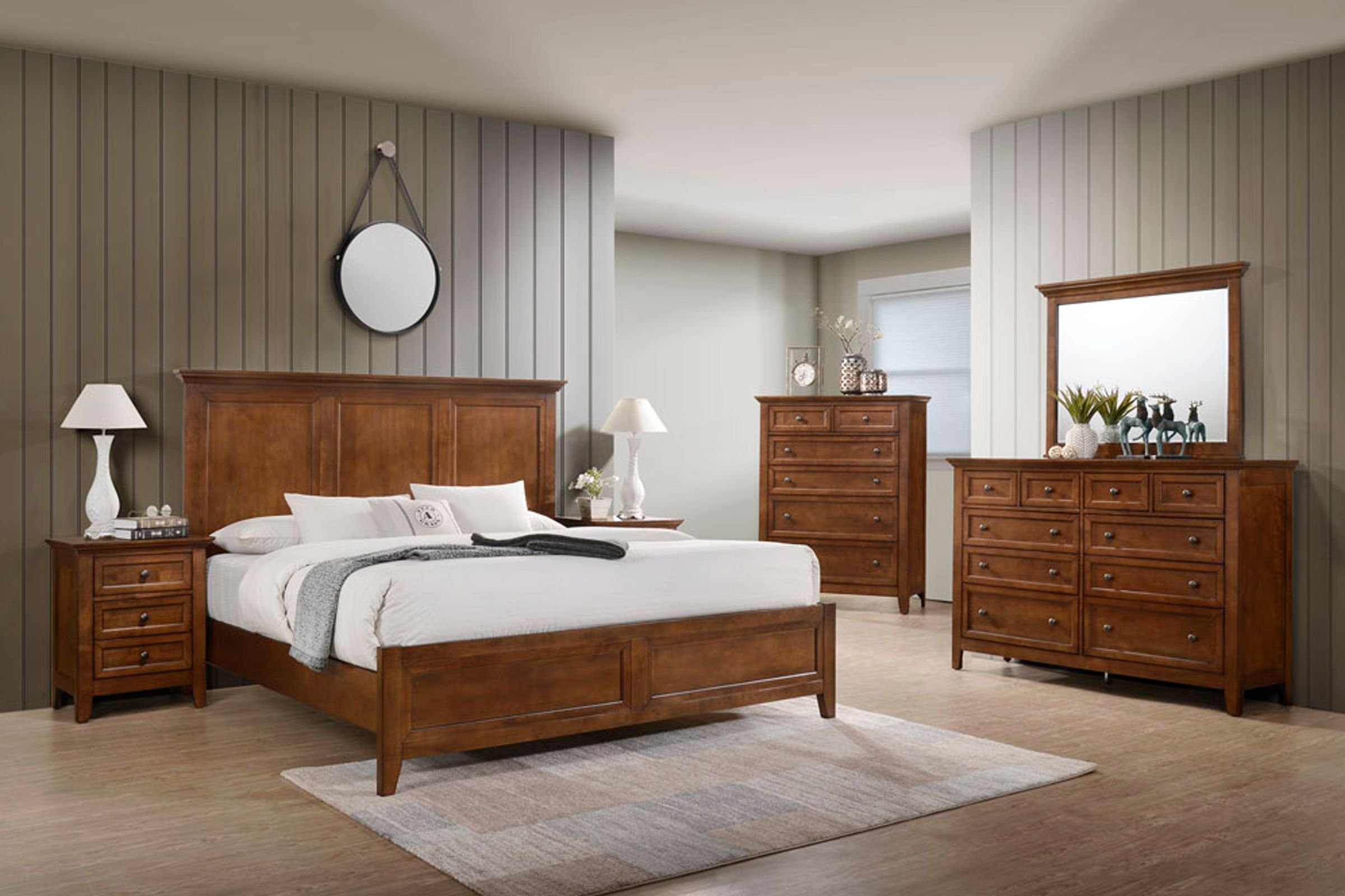 san mateo 5 piece solid wood queen bedroom set