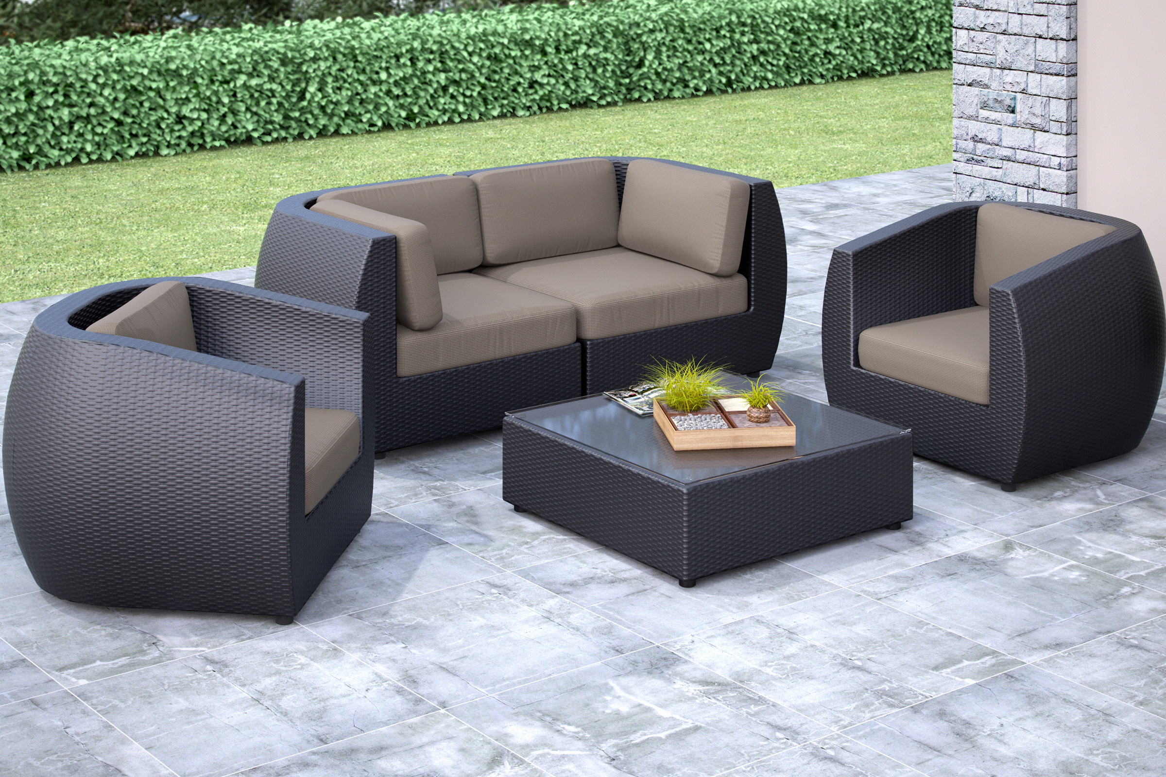 seattle 5 piece sofa and chair patio set
