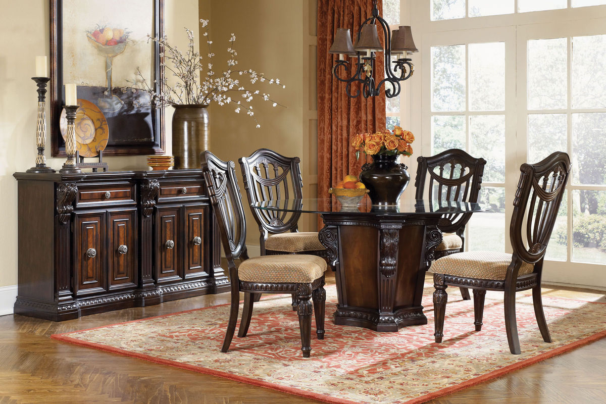 cabernet round dining table