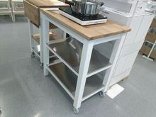 oak kitchen cart colors of cabinets 宜家斯坦托厨房推车 多图 价格 图片 天猫精选 1496 00