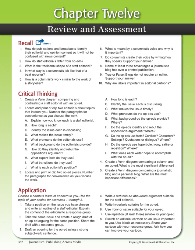 Journalism: Publishing Across Media, 24st Edition Page 24 (24 of 24)