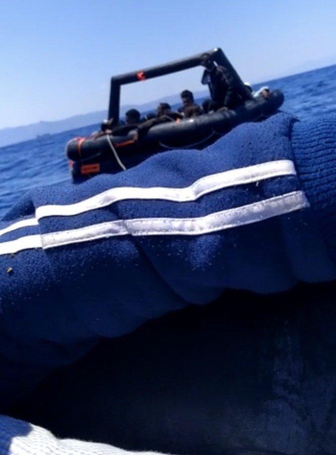 """Un des deux """"dinghy"""" dans lequel le groupe de Stéphanie a été forcé d'embarquer. Crédit : DR"""
