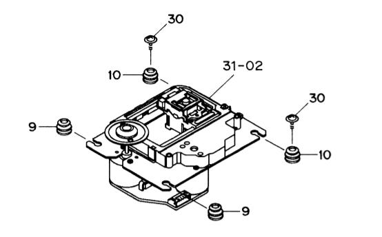 Repairing a Teac CD-P1450 CD player