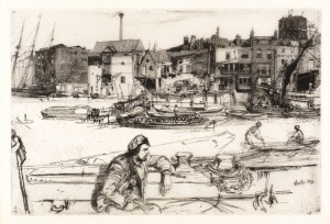 Black Lion Wharf, Wapping 1859 by James Abbott McNeill Whistler 1834-1903