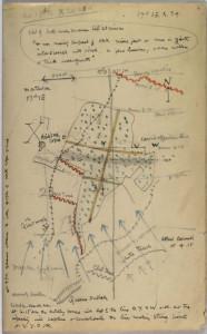 David Jones's map of the battle