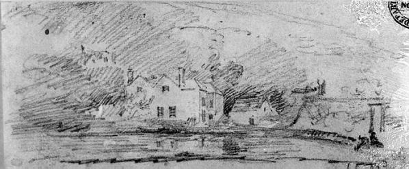 Cotman A house by water