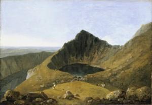 Llyn-y-Cau, Cader Idris ?exhibited 1774 by Richard Wilson 1713-1782