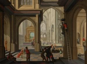 Iconoclasm in a church (Dirck van Delen, 1630)