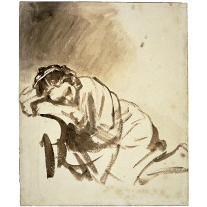 Rembrandt, A young woman sleeping
