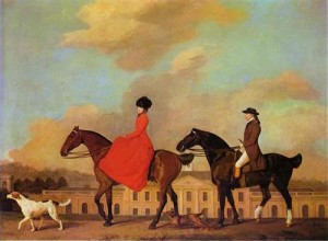 George Stubbs, 'John and Sophia Musters riding at Colwick Hall' (1777)