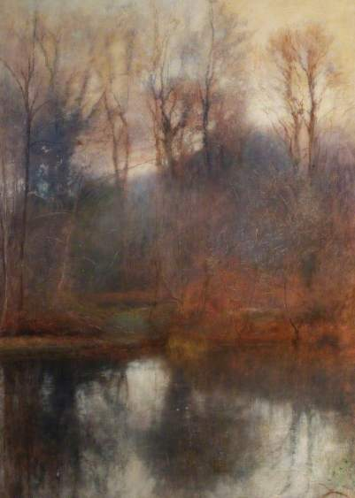 Lewis, Charles William Mansel, Woodland Scene, Stradey Pond; Carmarthenshire Museums Service Collection; http://www.artuk.org/artworks/woodland-scene-stradey-pond-177338
