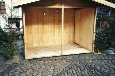 Stand mit offener Front