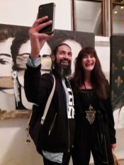 Suzanna Vock with Vincenzo Style and Gossip at Cornelia Castelli Vernissage Lucerne Switzerland