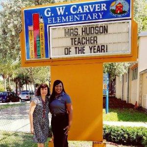 Teacher of the Year Hudson