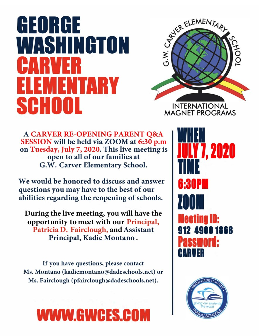 School Reopening Invite