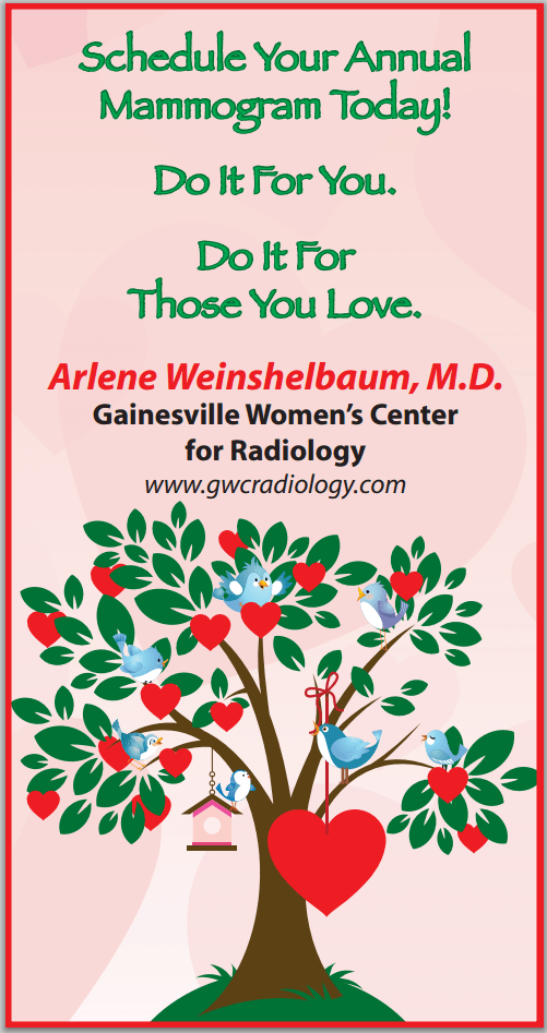 Schedule your annual mammogram today at Gainesville Womens Center