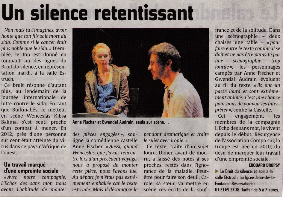 Article Presse - Le Bruit du Silence 2012