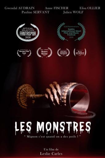 Affiche de divers prix et sélections pour Les Monstres de Lelie Carles et Gwendal Audrain en festival
