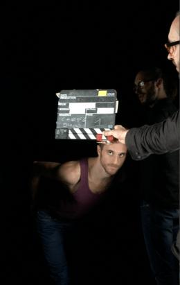Gilles Polet (danseur) Sylvain Brilland (Chef op) au Fresnoy 2013