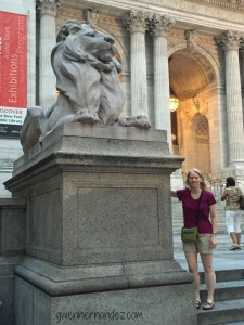 Patience the lion at NY Library