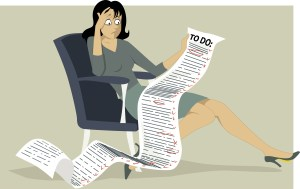 woman with to-do list