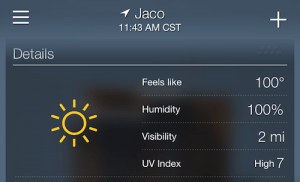 Temps in Jacó