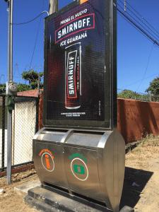 trash bins in Jaco