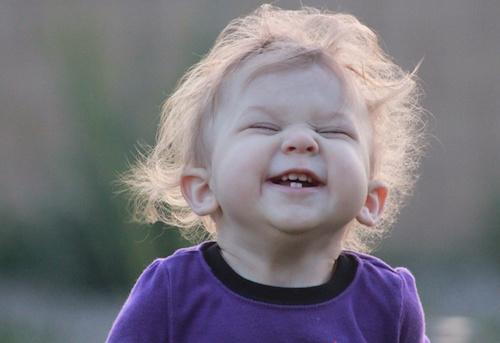 laughing baby girl
