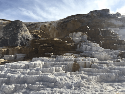 A mound at Mammoth Hot Springs, Wyoming
