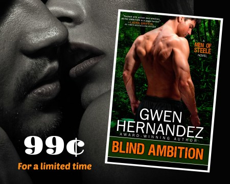 ad with BA book cover, sensual couple, and 99¢ message