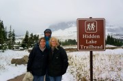 Top of Logan's Pass in Glacier NP. Cold!!