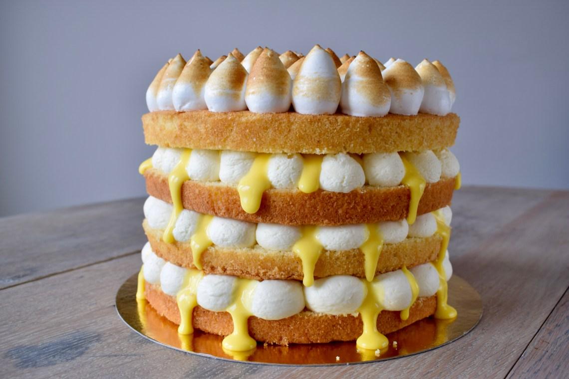 Naked Cake Citroen Meringue - Gwenn's Bakery