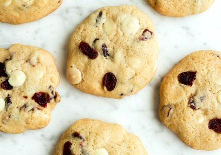 Cookies met witte chocolade en cranberry - Gwenn's Bakery