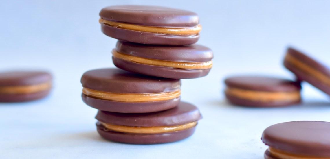 Chocoladekoekjes met gezouten karamel - Gwenn's Bakery
