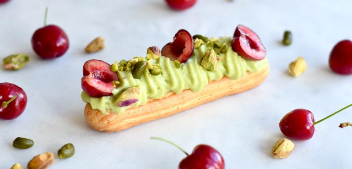 Eclairs met pistache en kersen - Gwenn's Bakery
