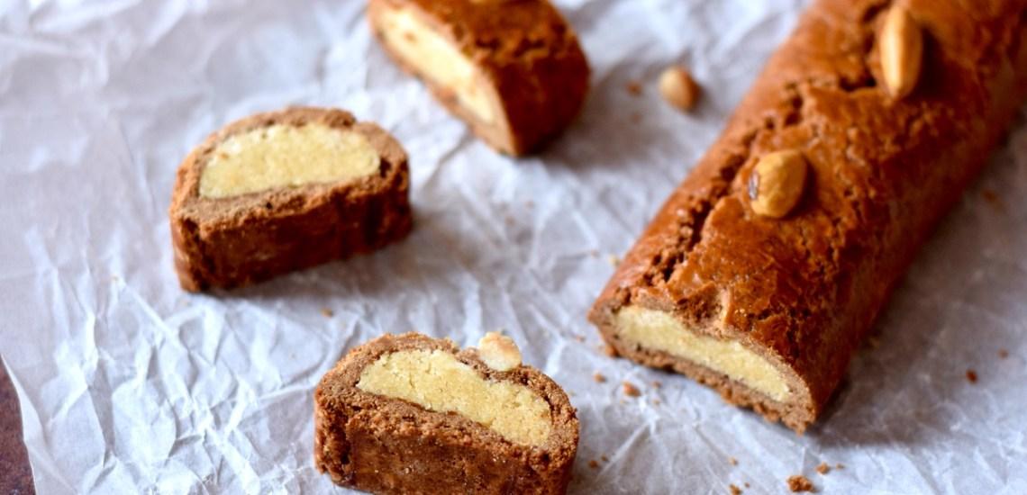 Gevulde speculaasstaaf met amandelspijs - Gwenn's Bakery