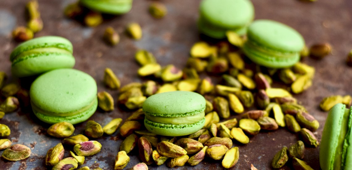 Pistache macarons - Gwenn's Bakery