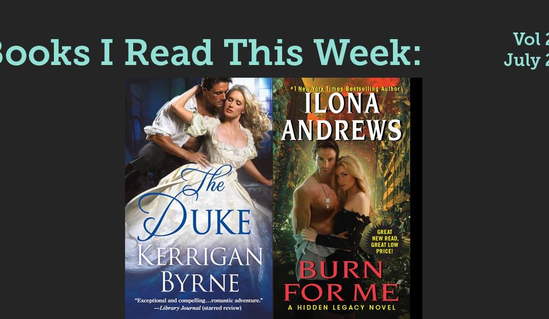 Book I read this week: Vol 29, July 29