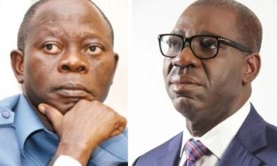 Obaseki vowed to probe Oshiomhole