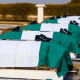 Burial of 7 NAF Officers Commences At Abuja Military Cemetery
