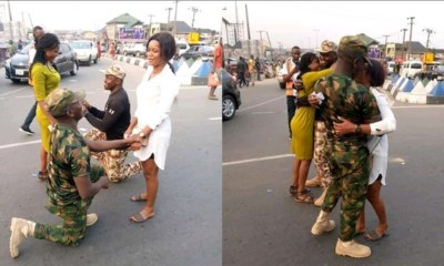 Nigerian Soldiers Proposed To Lovers On A Highway