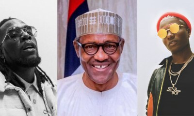 What Buhari Said To Afrobeats Stars Burna Boy, Wizkid After They Won Grammy Awards