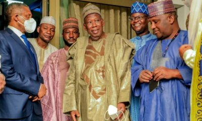 Photo: Ganduje Reconciles Kano Billionaires; Dangote, Isyaka-Rabi'u Over Dispute On Sugar Plant