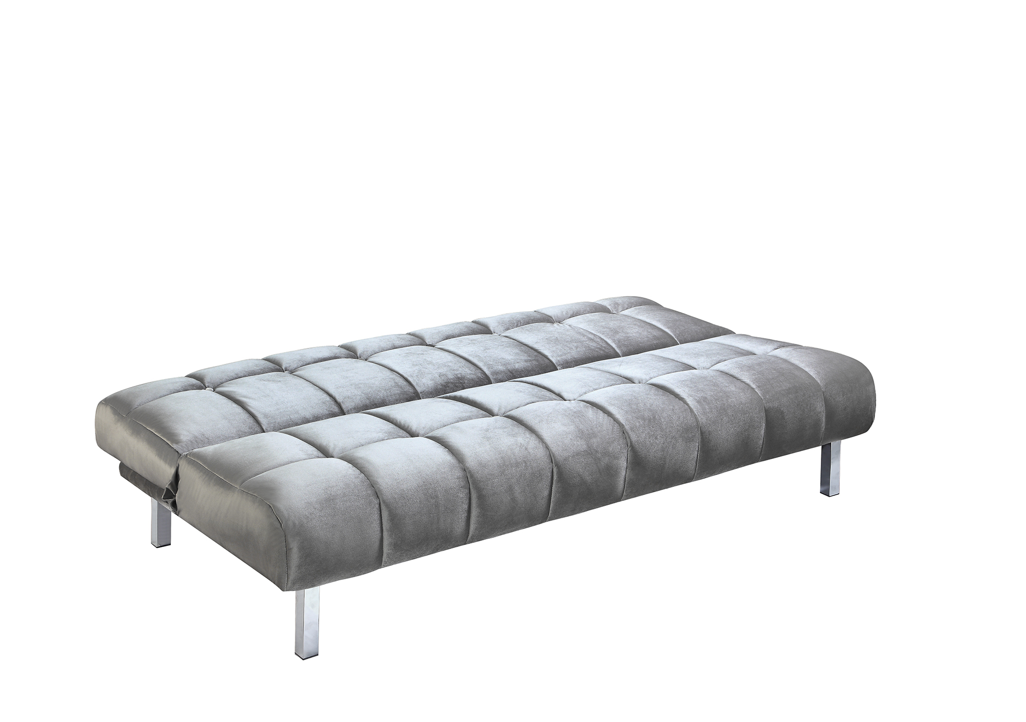 coaster futon sofa bed with removable armrests review blue dot sleeper fabric grey finish 360002 ebay