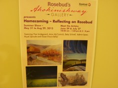 Rosebud Gallery Sign