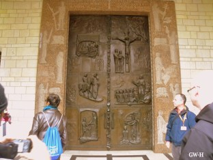 Church of the Annunciation doors in Nazareth