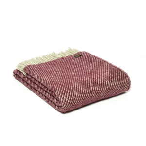 Rosewood Diagonal Strip Throw