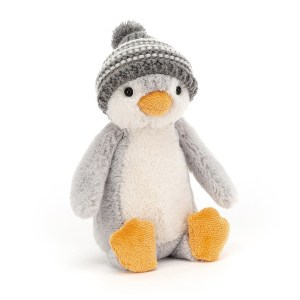 Bashful Bobble Hat Penguin Grey