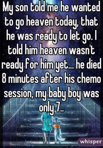 7 year old died of cancer ready for heaven