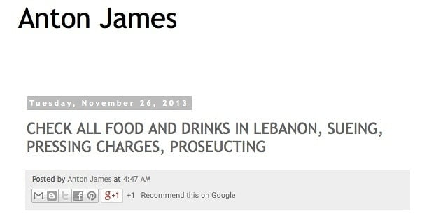 food lebanon